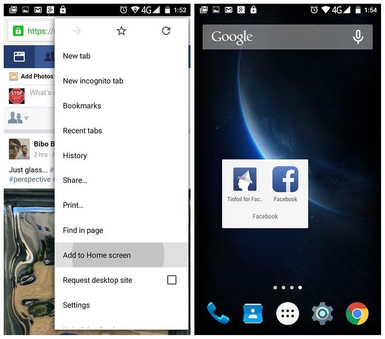 Tinfoil-for-Facebook-Chrome-shortcut