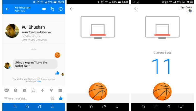 How to play Facebook Messenger hidden basketball game