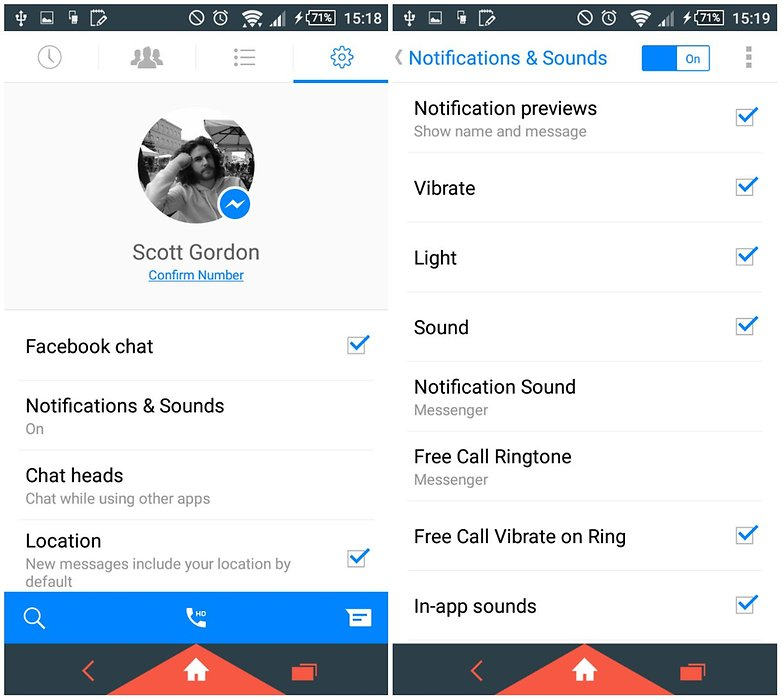 How to turn off Facebook Messenger notifications for all conversations on Android: